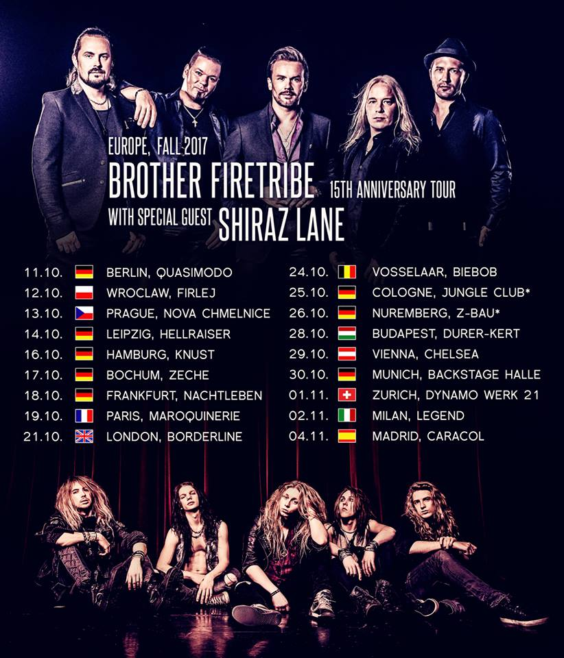 brother firetribe shiraz lane tour 2017